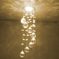 Modern New Suspension Hanging Crystal LED 3W Ceiling Lights decorative aisle walk indoor living room home illumination Lamps