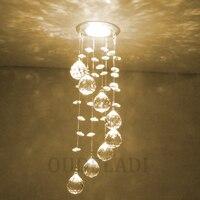 Moderna nova suspensão de cristal led 3 w luzes teto decorativo corredor caminhada interior sala estar lâmpadas iluminação casa|Luzes de teto| |  -