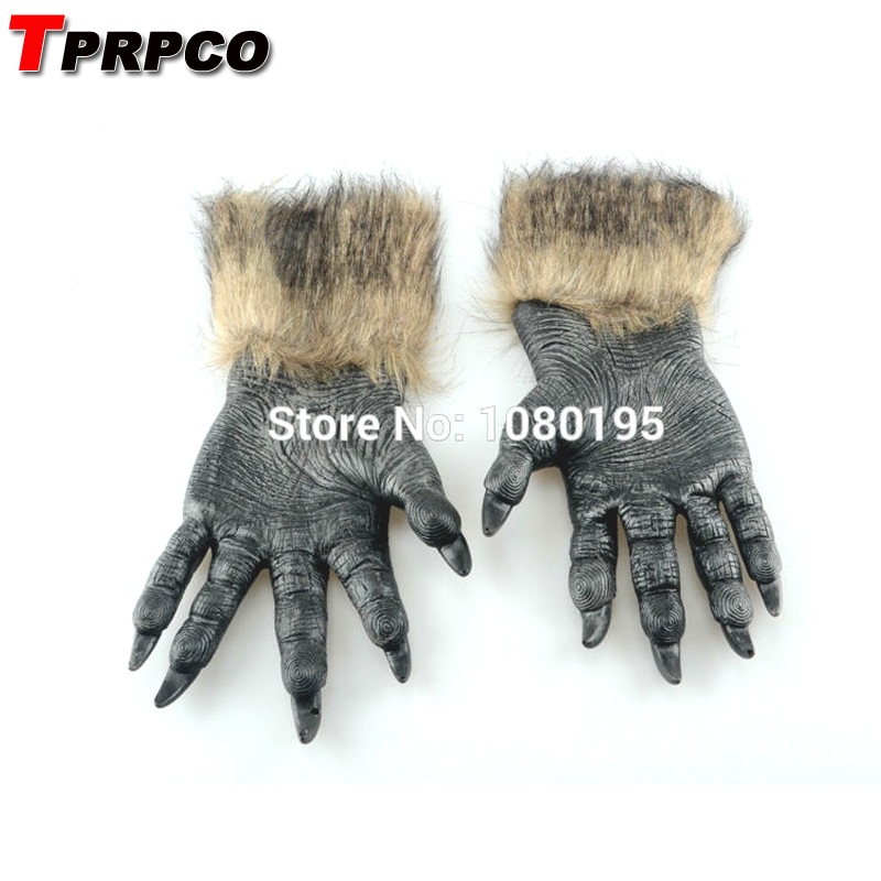 TPRPCO Horror Latex Animal Wolf Claw Glove Dress Costumes Cosplay Halloween Carnival Bar Props NL735