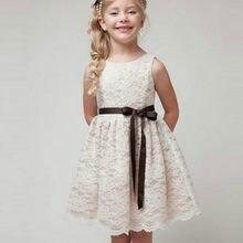 c8f6cfba88 2017 New Arrival Flower Girl Dresses biały Ivory prawdziwe Party korowód  komunia sukienka dziewczynki dzieci dzieci sukienka na .