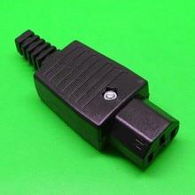 DHL 200PCS Electrical 250v 10A Standart IEC 320 C13 AU AC POWER cord cable plug AC socket