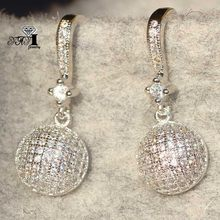 YaYI Jewelry Fashion Princess Cut 7.8CT White Zircon Silver Color long Ear Earrings wedding Party tassel Earrings Gifts(China)