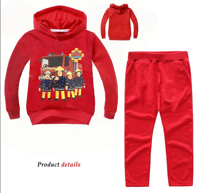 Pants Boys Clothes Buy One Give One Fashion Anime Style Children Set Baby Boy Sport Sets Suit Cartoon Fireman Sam Hoodie Sweater Retail