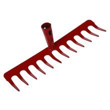 Металл 12 зубцов ручной культиватор грабли инструмент головка красный