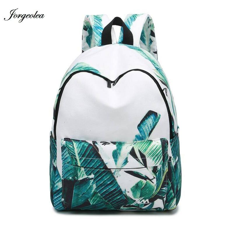 Jorgeolea для девочек школьная сумка свежий печати Школьный рюкзак сумки пакет Детский рюкзак CA170614