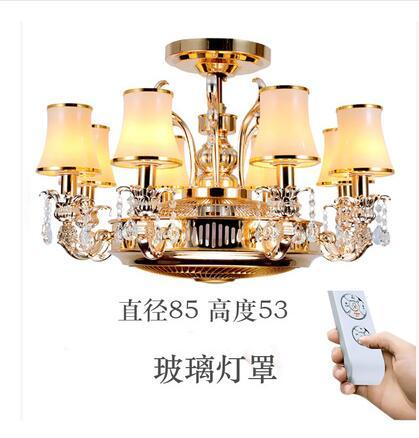 Ceiling fans Anion stealth fan lamp ceiling lamp LED zinc alloy crystal european-style remote control lamps 8 Heads ceiling fan