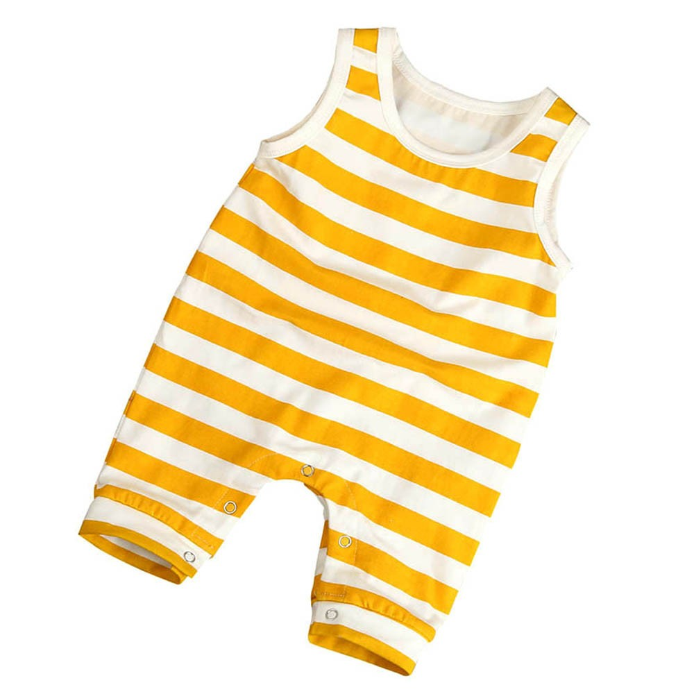 Toddler Baby Boys Girls Striped Sleeveless Romper Jumpsuit Outfits Clothes Yellow White Striped Sleeveless Body Rompers Cool 2017 summer toddler kids girls striped baby romper off shoulder flare sleeve cotton clothes jumpsuit outfits sunsuit 0 4t