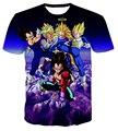 Hipster 3D t shirt Anime Dragon Ball Z Camisetas Divertidas Equipo Vegeta Goku t shirts Hombres Mujeres Casual camisetas Galaxy camisetas tops