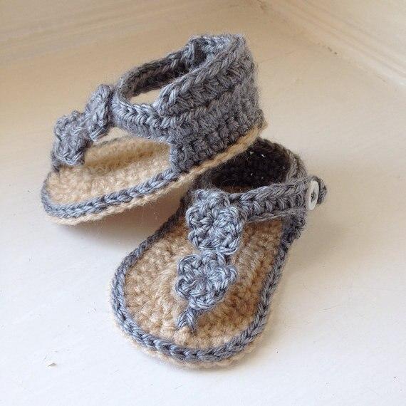 2015 bebé recién nacido del ganchillo de la sandalia, zapatos del ...