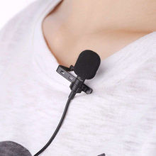 3.5mm Clip-on Lapel Microphone Hands Free Wired Condenser Mini Lavalier Mic