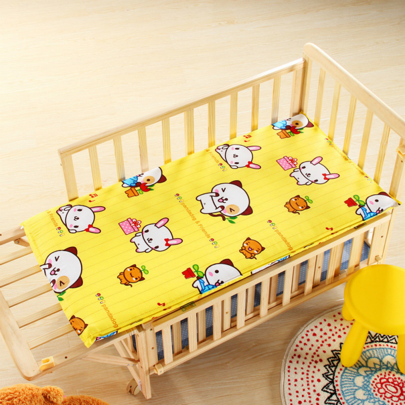 2pcs Breathable Crib Toddler Mattress and Sheet, Padded Removeable Washable Children Kindergarden Bedding Products120cm*60cm*5cm