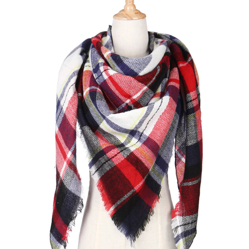 HOTEST Winter Scarf For Women Girls Shawls Women Scarf Scarves Plaid Tassel Shawls lady Warm Winter Scarf Ladies