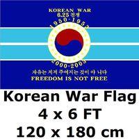 חופש הוא לא משלוח דגל 120x180 cm הקוריאנית 1950-1953 הנצחה ותיקי המלחמה הקרה ארה