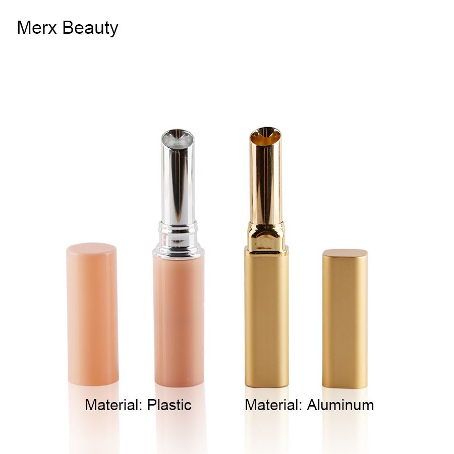 8.4mm 1.5g Pink Gold Empty Plastic Aluminum Lipstick Tube Fashion Style DIY Lip Balm Stick Refillable Container Makeup Tools цена