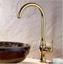 Ванная комната Водопроводной Воды Новый Кухонный Кран Torneira Cozinha Lavabo золото Бассейна Кран Латунный Кран Раковины Бассейна Смесителя Кран