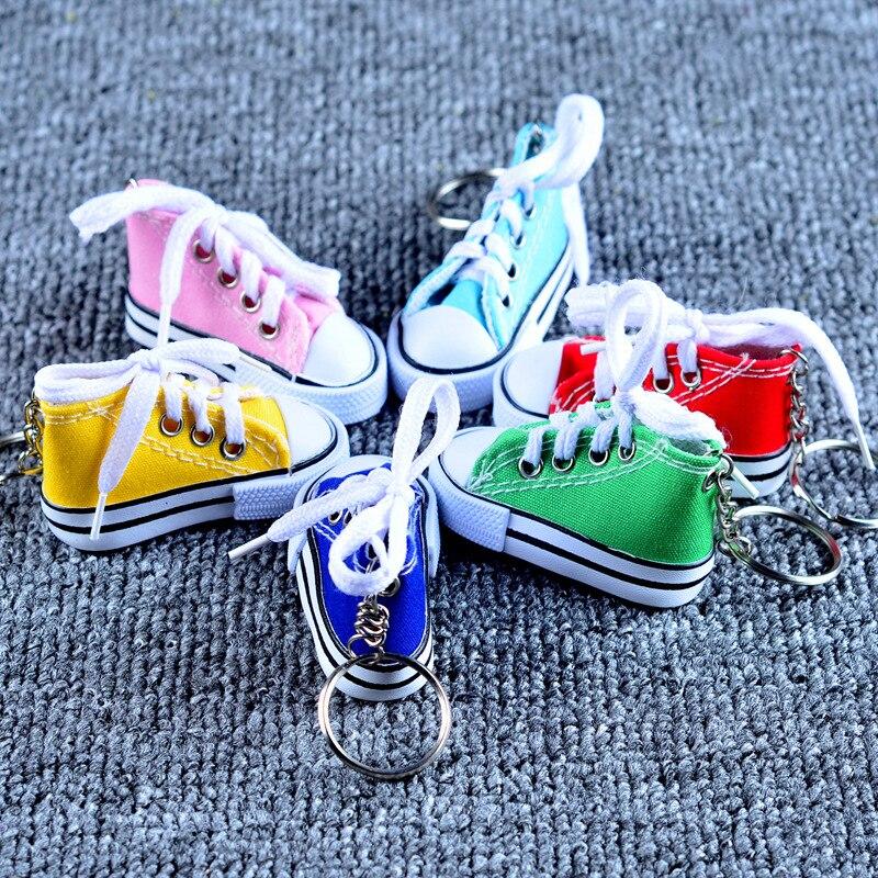 Холст обуви ключ пряжки Повседневный брелок на ключи в виде обуви цвет обуви брелоки металл аксессуары для сумки - 2
