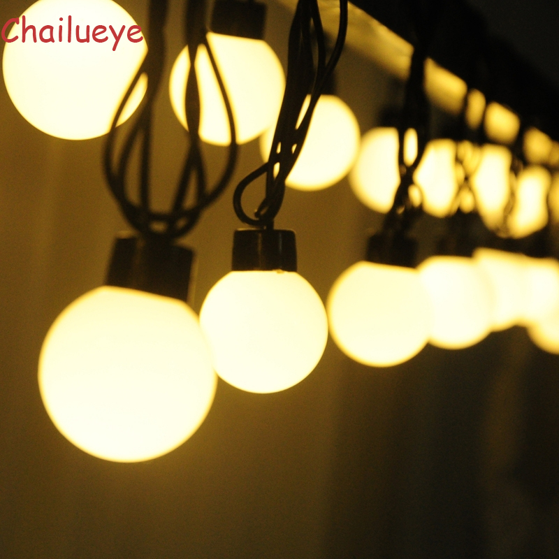 10m Luminarias 5cm Ball LED String Lights Curtain Fairy Garland Lamps Wedding Indoor Outdoor Garden Christmas Holiday Lighting