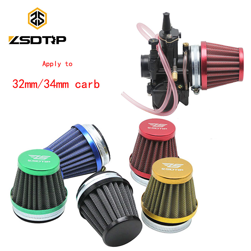 ZSDTRP 55mm Air Filter Interface Cup Aluminium Universal Used at 32mm 34mm PWK KEIHIN KOSO OKO MIKUNI Motorcycle Carburetor