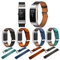 Замена Роскошные Подлинная Кожаный Ремешок Ремешок Браслет Для Fitbit Заряд 2