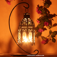 Mousse Lantern Rustic Candle Glass Hanging Iron Vintage Wedding Decoration Supplies Photography Props Decoration
