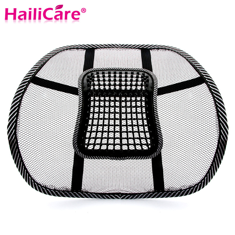 New Car Seat Office Chair Massage Back Lumbar Support Mesh Ventilate Cushion