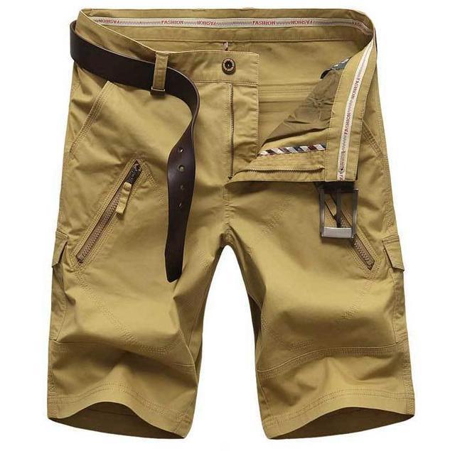 2017 Plus Size 44 46 48 50 Men's Shorts  Leisure CARGO Shorts 4 Color Straight Loose Fashion Mans Short Trousers Bottoms