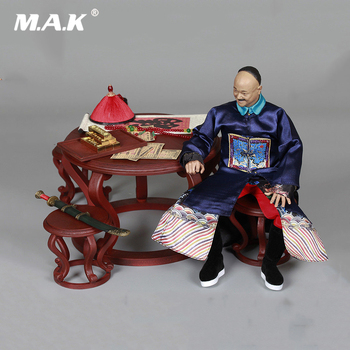 For Collection 1/6 Qing Empire Series MN006 Military Minister He Zhongtang/MN007 Desk Chair Scene Accessories Model for Fan Gift