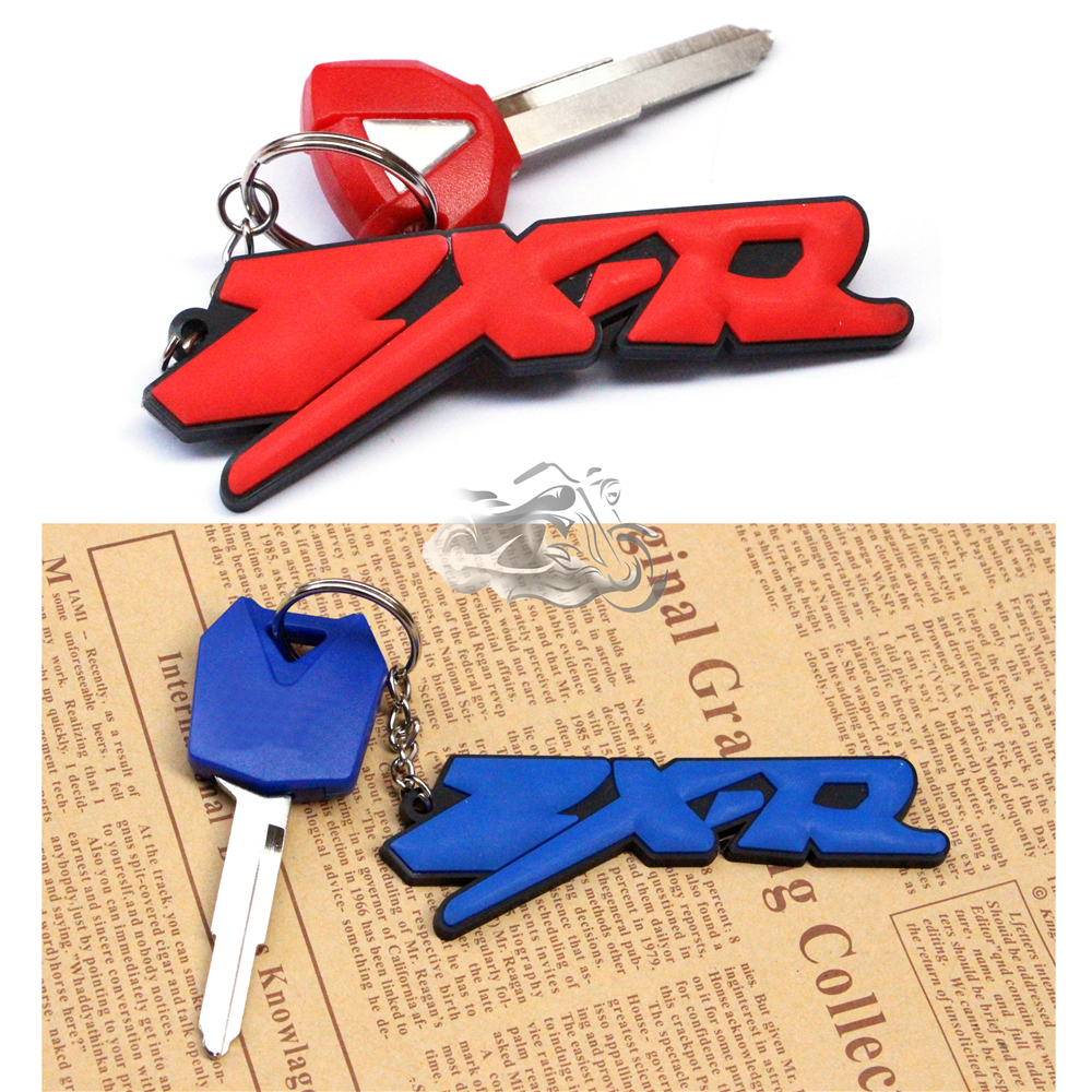 For Kawasaki Ninja ZX6R ZX-7R ZX9R ZX10R ZX12R ZX14R ZZR1400 3D Soft Rubber Motorcycle Blade Uncut Key+Ring Keychain New