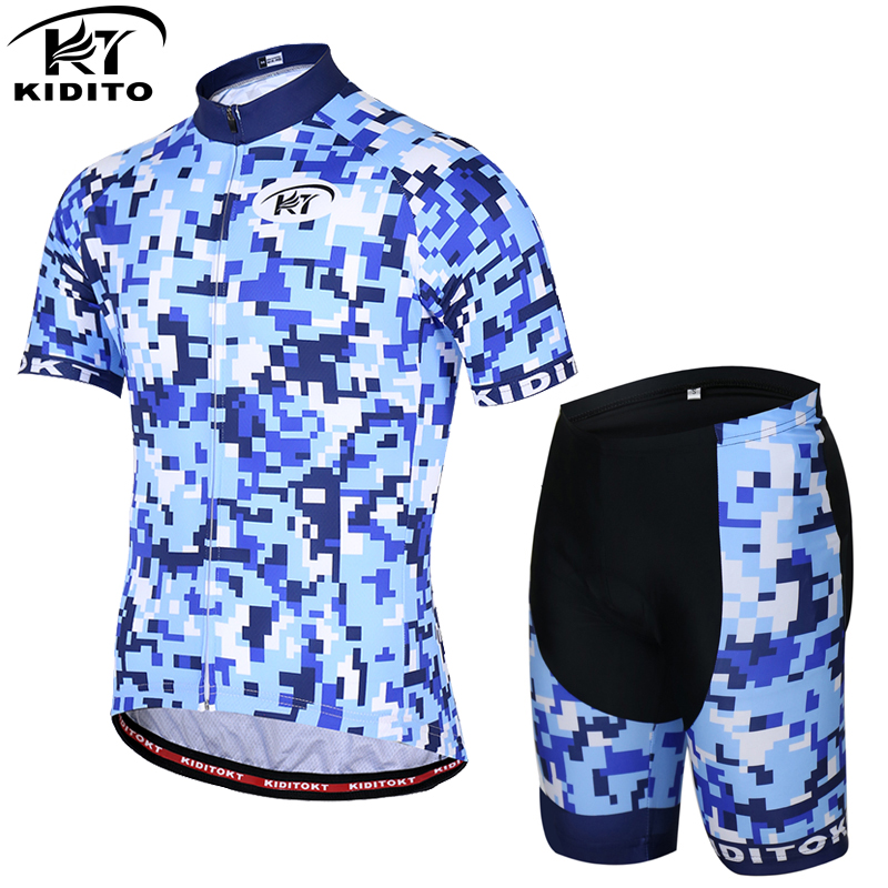 KIDITOKT Quick Dry Funny Cycling Jersey Set Summer MTB Bicycle Clothing Racing Bike Clothes Cycling set montain bike cycle dress|Cycling Sets| |  - title=