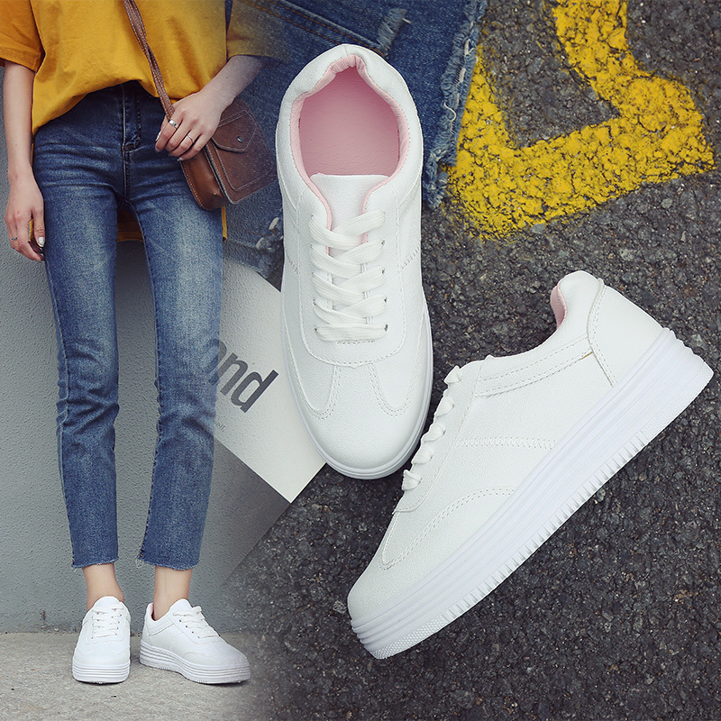 Women Canvas Shoes Trainers Female Platform Sneakers Feminino Casual Woman Zapatos De Mujer Summer White Student Board