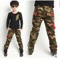 Novo 2016 Crianças de Moda Calças Jeans Para Meninos Camuflagem Bebê Meninos Calças Jeans Crianças Elásticas calças de Brim & Frete Grátis