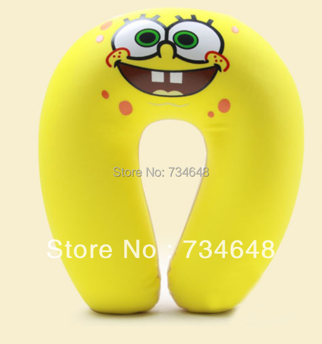 Comfort Foam Particles U Neck Travel Pillow Cute Cartoon Pattern