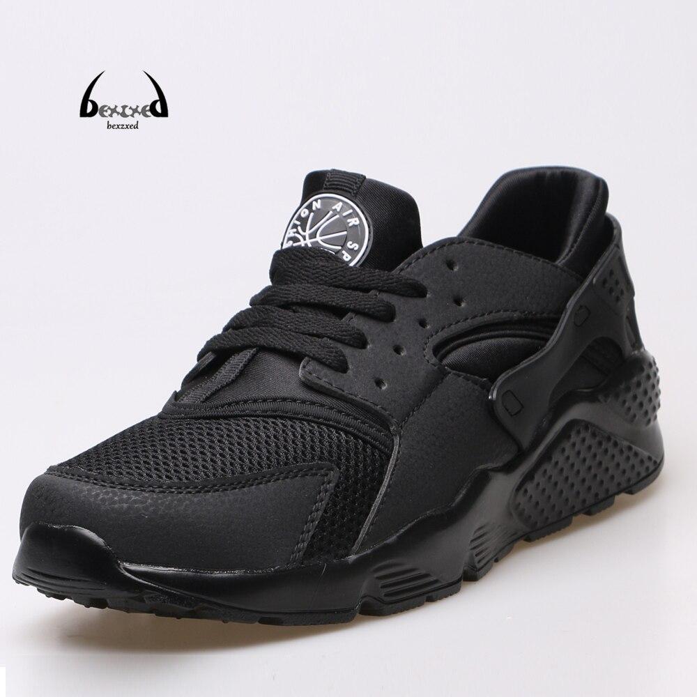 2017 chaussures de course pour hommes nouveau athletic air sneakers blanc  noir respirant panier de tennis