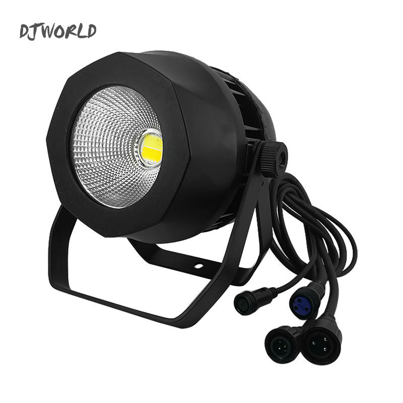 Waterproof LED Par COB 200W Cool+Warm White Lighting Aluminum Alloy High Power For Stage Effect DJ Disco Party Light led 200w cob led par aluminum alloy with barn doors cool or warm white 2in1 lighting lamp dmx for stage effect dj disco lighting