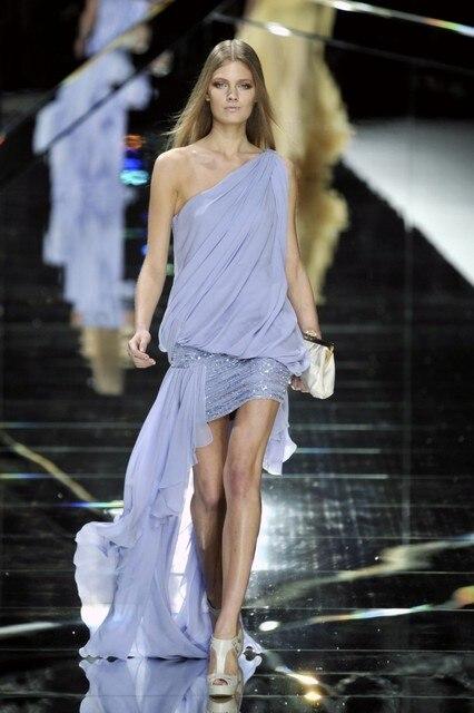Elie Saab Neue Design Abendkleid One Shoulder Sleeveless Kurze ...