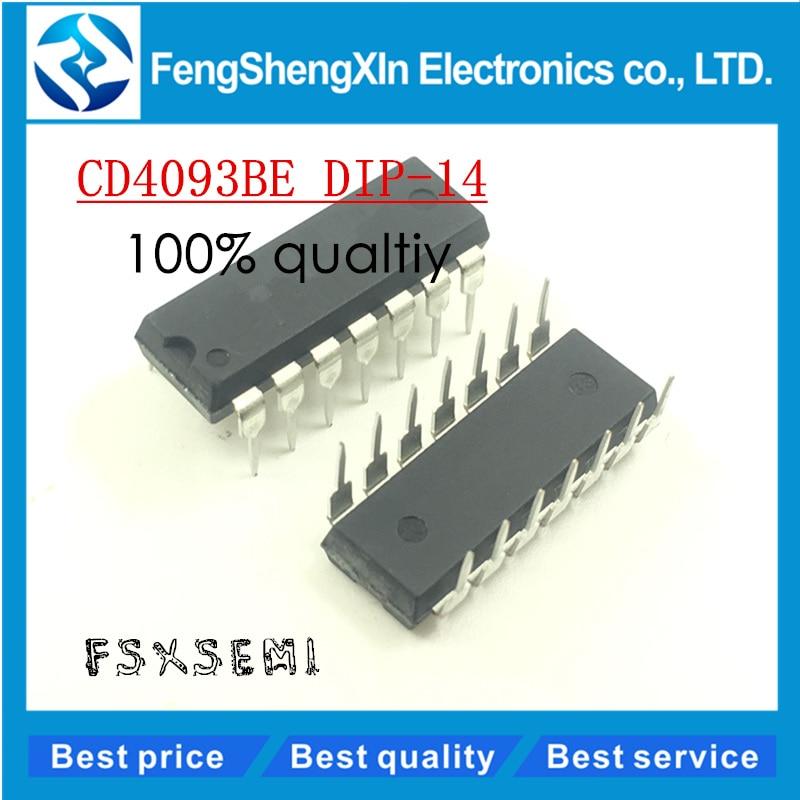 10 pcs/lot CD4093BE CD4093 HEF4093/HCF4093 DIP-14 4093BE trigger de Schmitt IC10 pcs/lot CD4093BE CD4093 HEF4093/HCF4093 DIP-14 4093BE trigger de Schmitt IC