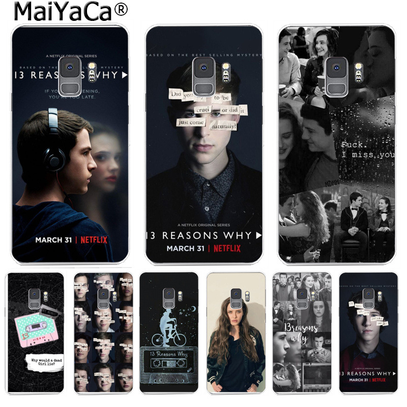 MaiYaCa <font><b>13</b></font> Thirteen <font><b>Reasons</b></font> <font><b>Why</b></font> Abstract <font><b>Phone</b></font> <font><b>Case</b></font> Back Cover for Samsung S9 S9 plus S5 S6 S6edge S6plus S7 S7edge S8 S8plus image