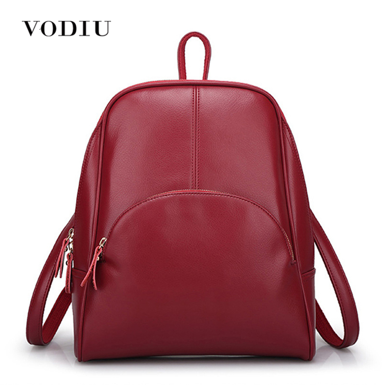 Women Backpack For Teenagers Girls Laptop Waterproof Female Casual Motorcycle Candy Color Zipper Genuine Leather Bags Designer