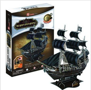 cubic fun Pirates of the Caribbean  Black Pearl 3D carboard puzzle 3D paper model DIY 3D paper puzzle