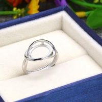 925 Sterling Silver White Gold Color 9x11mm Oval Cabochon Semi Mount Engagement Ring Setting Fine Jewelry