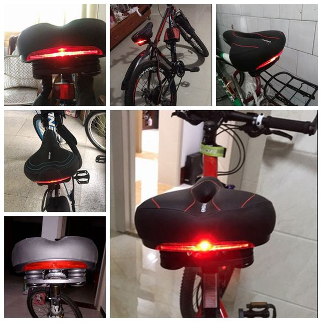 INBIKE Bicycle Cushion Saddle with Tail Light Accessory