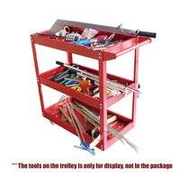 200 кг ёмкость сталь красный металл мастерской услуги Тележка коробка 3 уровня для гаража wareshouse садоводов дома механические инструменты хран