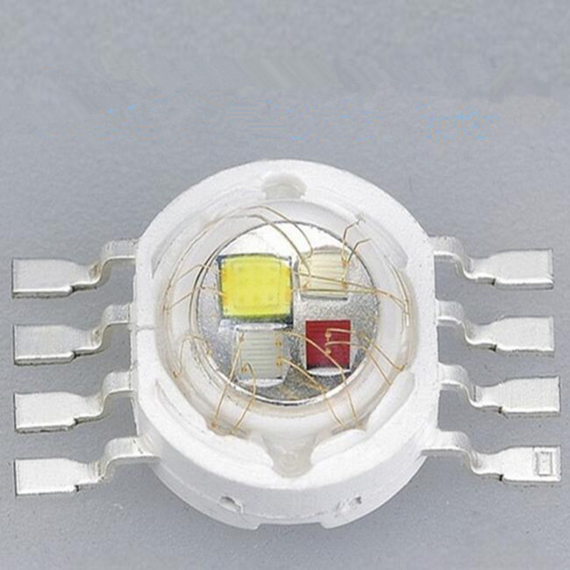100pcs 4W 12W LED RGBW High power Lamp RED GREEN BLUE WHITE combination eight Legs 350mA/700mA 38mil/45MIL Chips Free shipping