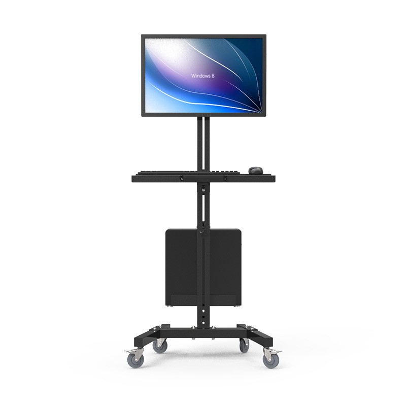 Moving Sit-Stand Desk Workstation TV Mount PS Stand Medical Equipment Trolley Computer H ...