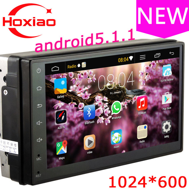 Car Multimedia Player 2 DIN Car DVD Android 6.0.1 OS 1024*600 Screen 4 core GPS / MP3 / mp4 / usb / Bluetooth Car stereo radio