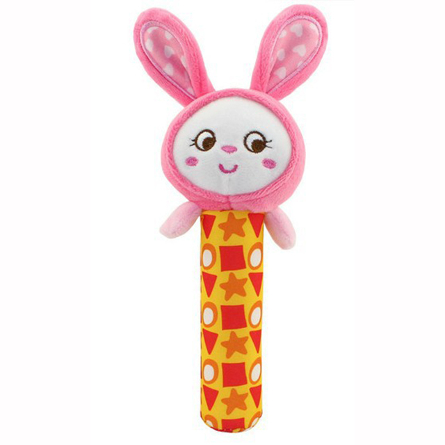 Baby Hand Grip Rod Toys Rattle Animal BB Stick Hand Bell Toy