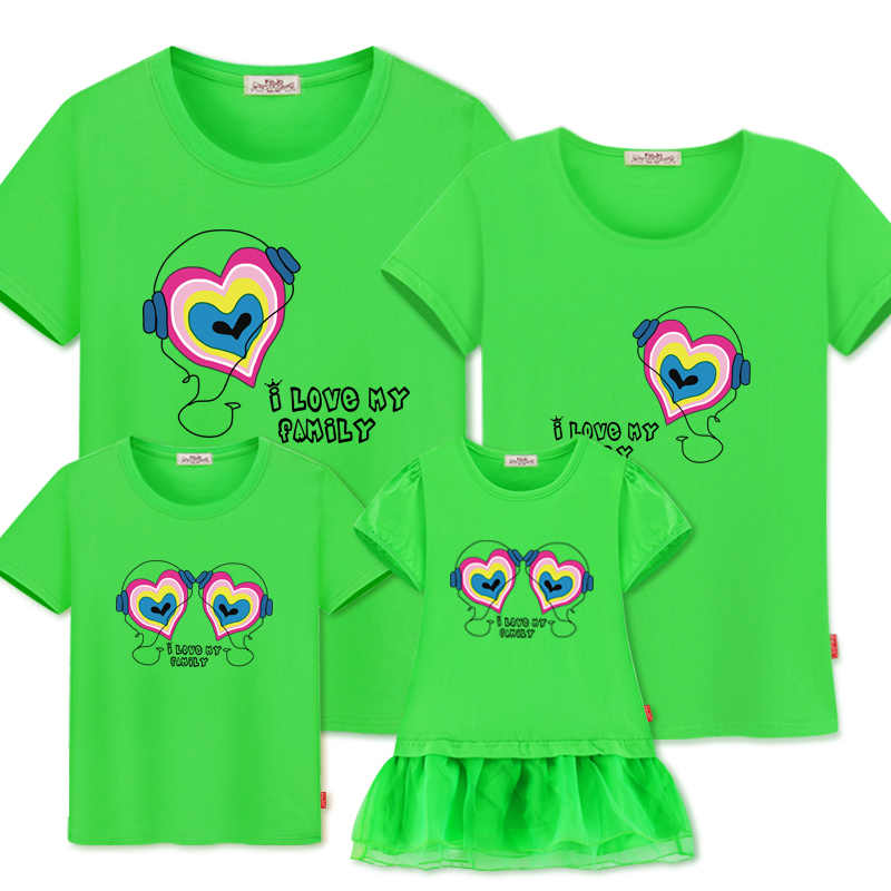 3fc555617904e Family Matching Clothes New Mother Daughter Dresses Family Look summer  Matching Outfits cotton t-shirts mom daughter son clothes