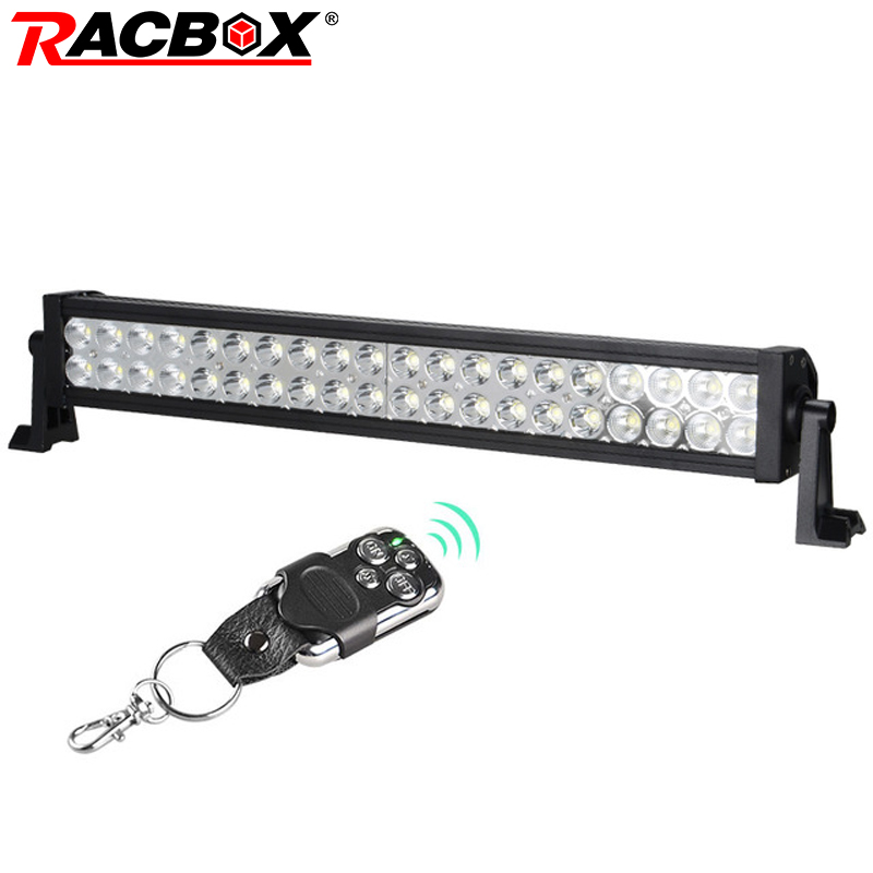 RACBOX 22 pouce 120 W OffRoad LED lampe de Travail Bar Conduite Lampe Blanc 9600LM Combo Faisceau Pour 4x4 VTT Bateau SUV Camion Tracteur SUV Lumière