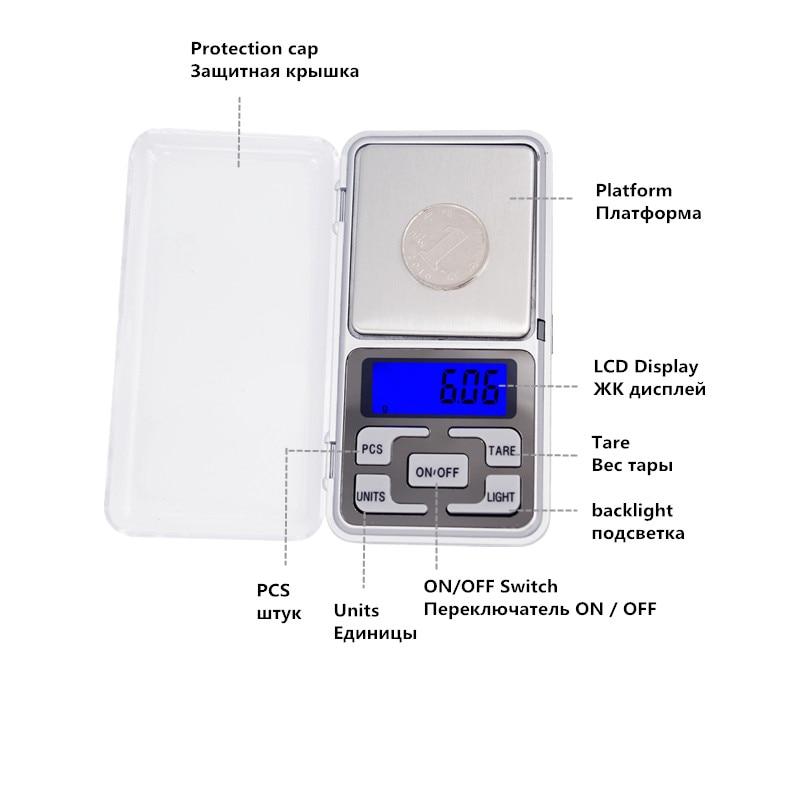1db 300g / 500g 0,01g 1000g 0,1g Scale Elektronikus Mini Digitális - Mérőműszerek - Fénykép 2