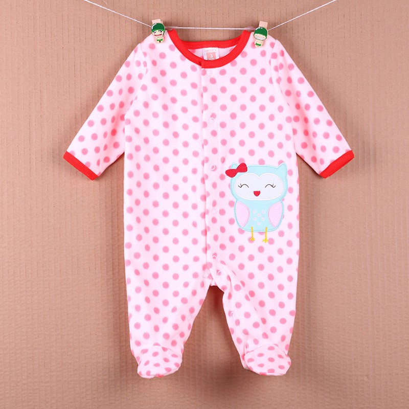 New Arrival Baby Footies Boys&Girls Jumpsuits Spring Autumn Clothes Warm Cotton Baby Footies Fleece Baby Clothing Free Shipping (9)